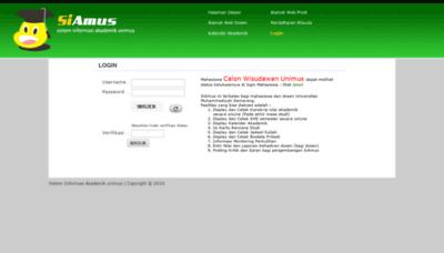 What Siamus.unimus.ac.id website looks like in 2021