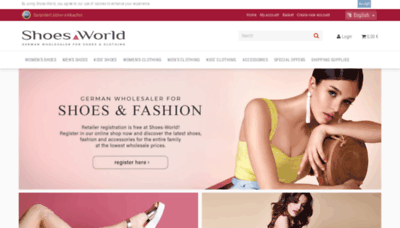 What Shoes-world.de website looks like in 2021