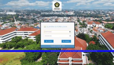 What Siak.univpancasila.ac.id website looks like in 2021