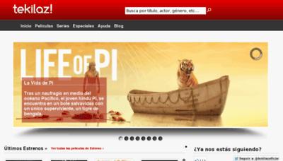 What Tekilaz.tv website looked like in 2013 (8 years ago)