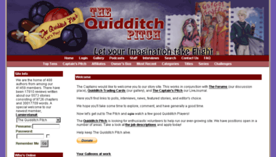 What Thequidditchpitch.org website looked like in 2015 (6 years ago)