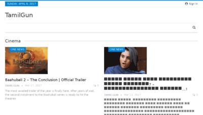 What Tamilgun.ws website looked like in 2017 (4 years ago)