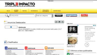 What Tripleimpacto.com.ec website looked like in 2017 (3 years ago)