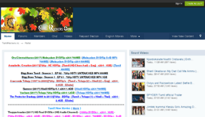 What Tamilrockers.info website looked like in 2017 (3 years ago)