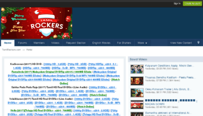 What Tamilrockers.ax website looked like in 2017 (3 years ago)