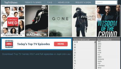What Toptvshows.cc website looked like in 2018 (3 years ago)