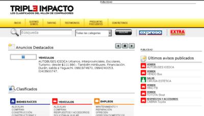What Tripleimpacto.com.ec website looked like in 2018 (2 years ago)