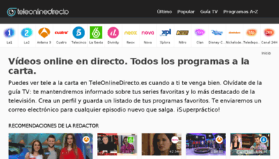 What Teleonlinedirecto.es website looked like in 2018 (3 years ago)