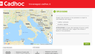 What Trovanegozi.cadhoc.it website looked like in 2018 (2 years ago)