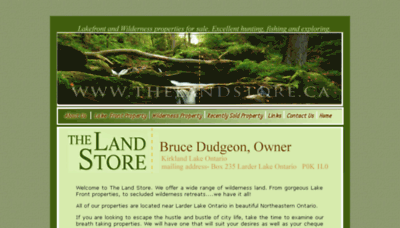 What Thelandstore.ca website looked like in 2018 (2 years ago)