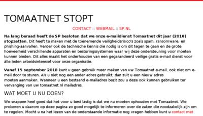 What Tomaatnet.nl website looked like in 2018 (3 years ago)
