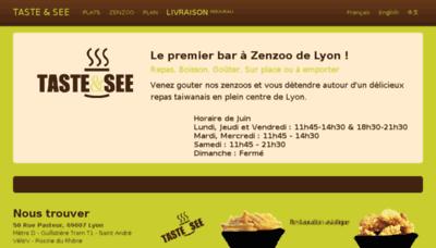 What Tasteandsee.fr website looked like in 2018 (2 years ago)