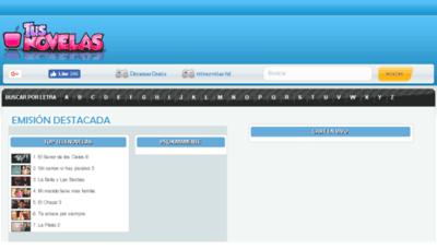 What Tusnovelas.net website looked like in 2018 (2 years ago)