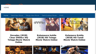 What Tamilarasan.net website looked like in 2018 (2 years ago)