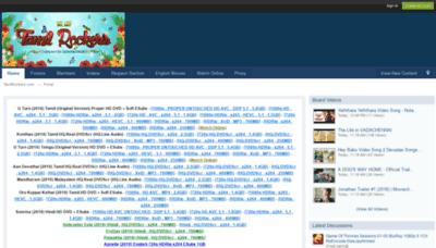 What Tamilrockers.info website looked like in 2018 (2 years ago)