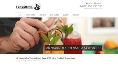 What Tenderone.co.uk website looked like in 2018 (2 years ago)