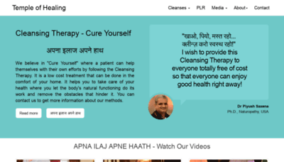 What Thetempleofhealing.org website looked like in 2018 (2 years ago)