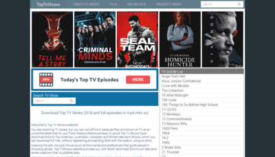 What Toptvshows.cc website looked like in 2019 (2 years ago)