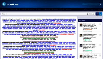 What Tamilmv.cz website looked like in 2019 (2 years ago)