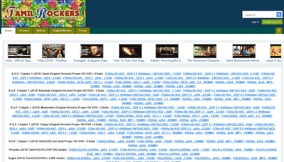 What Tamilrockers.lv website looked like in 2019 (2 years ago)