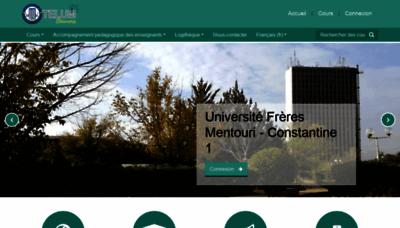 What Telum.umc.edu.dz website looked like in 2019 (1 year ago)