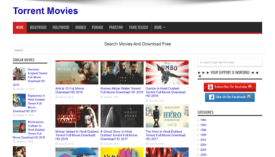 What Torrentmovies.co website looked like in 2019 (2 years ago)