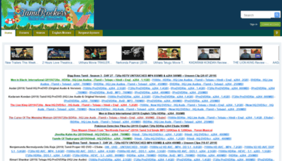 What Tamilrockers.info website looked like in 2019 (2 years ago)
