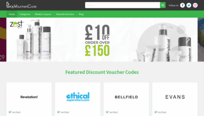 What Topvoucherscode.co.uk website looked like in 2019 (2 years ago)