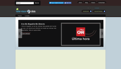 What Televisiongratis.tv website looked like in 2019 (1 year ago)