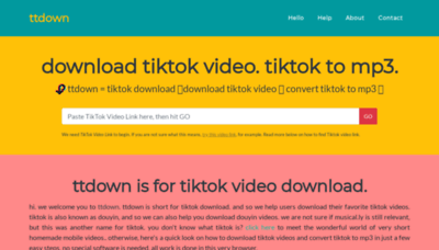 What Ttdown.org website looked like in 2019 (1 year ago)