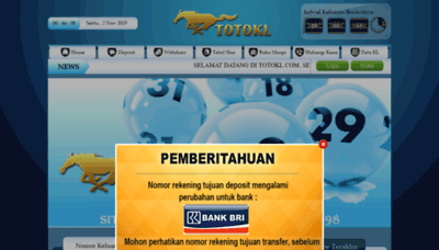 What Totokl4d.bet website looked like in 2019 (1 year ago)