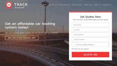 What Trackmystuff.co.za website looked like in 2019 (1 year ago)