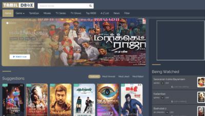 What Tamildbox.best website looked like in 2019 (1 year ago)