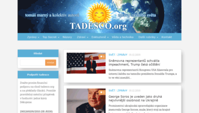 What Tadesco.org website looked like in 2019 (1 year ago)