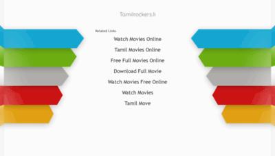 What Tamilrockers.li website looked like in 2020 (1 year ago)