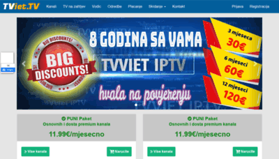 What Tvviet.tv website looked like in 2020 (1 year ago)