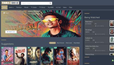 What Tamildbox.best website looked like in 2020 (1 year ago)