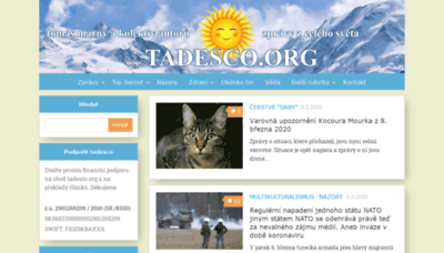 What Tadesco.org website looked like in 2020 (1 year ago)