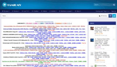 What Tamilmv.im website looked like in 2020 (1 year ago)