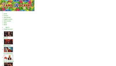 What Tamilrocker.de website looked like in 2020 (1 year ago)