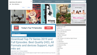 What Toptvshows.cc website looked like in 2020 (1 year ago)