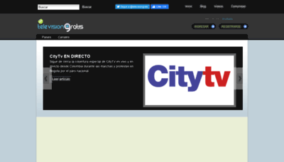 What Televisiongratis.tv website looked like in 2020 (1 year ago)