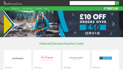 What Topvoucherscode.co.uk website looked like in 2020 (1 year ago)