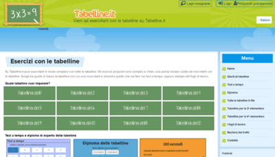 What Tabelline.it website looked like in 2020 (1 year ago)