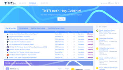 What Tictr.net website looked like in 2020 (1 year ago)