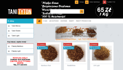 What Tani-tyton.pl website looked like in 2020 (1 year ago)