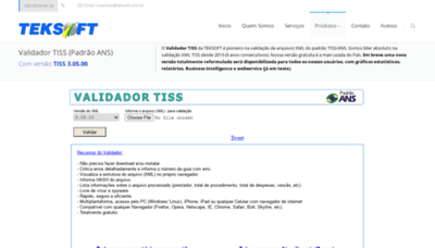 What Teksoft.com.br website looked like in 2020 (1 year ago)