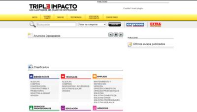 What Tripleimpacto.com.ec website looked like in 2020 (This year)