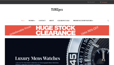 What Timepcs.in website looked like in 2020 (1 year ago)