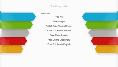 What Tamilplay.mobi website looked like in 2020 (This year)